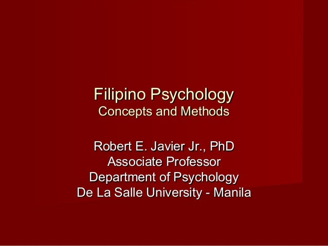 Filipino psychology   concepts and methods