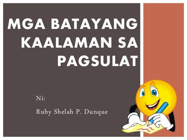 Book Report in Filipino