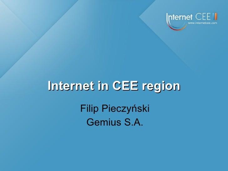 Internet in CEE region