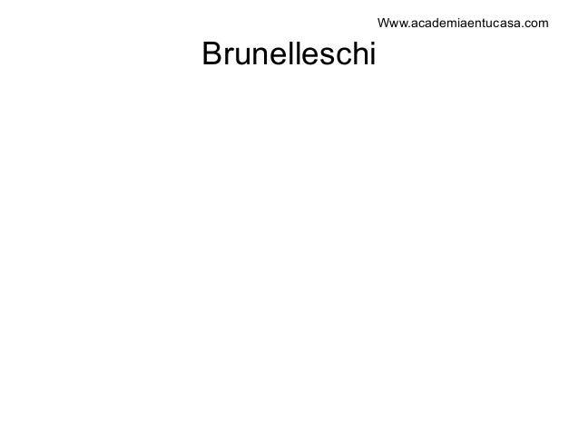 Filippo brunelleschi. arquitectura renacentista