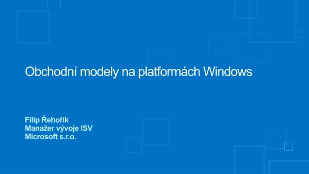 Obchodní modely na platformách Windows