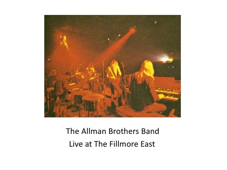 Fillmore east slide show
