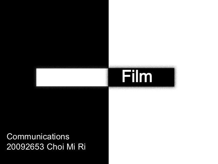 FilmCommunications20092653 Choi Mi Ri