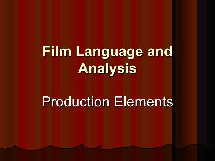 Film Analysis Prod Tech