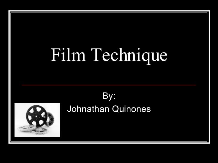 how to write about film techniques