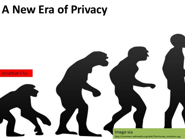 A New Era of PrivacyJonathan ChuImage viahttp://commons.wikimedia.org/wiki/File:Human_evolution.svg