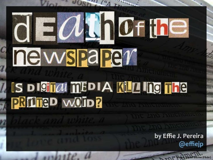 Death of the Newspaper