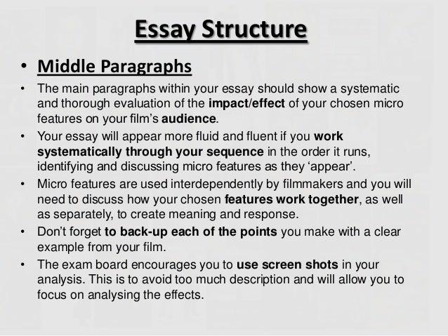 essay on movie