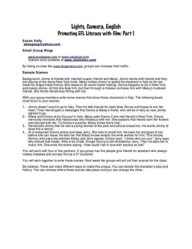 Film and literacy CAMTESOL handouts