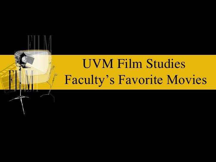 Film Dept Picks