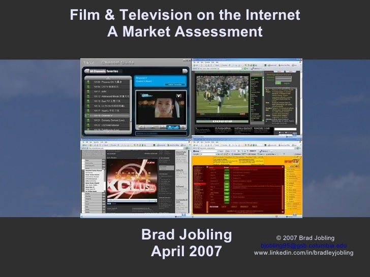 Film and Television on the Internet