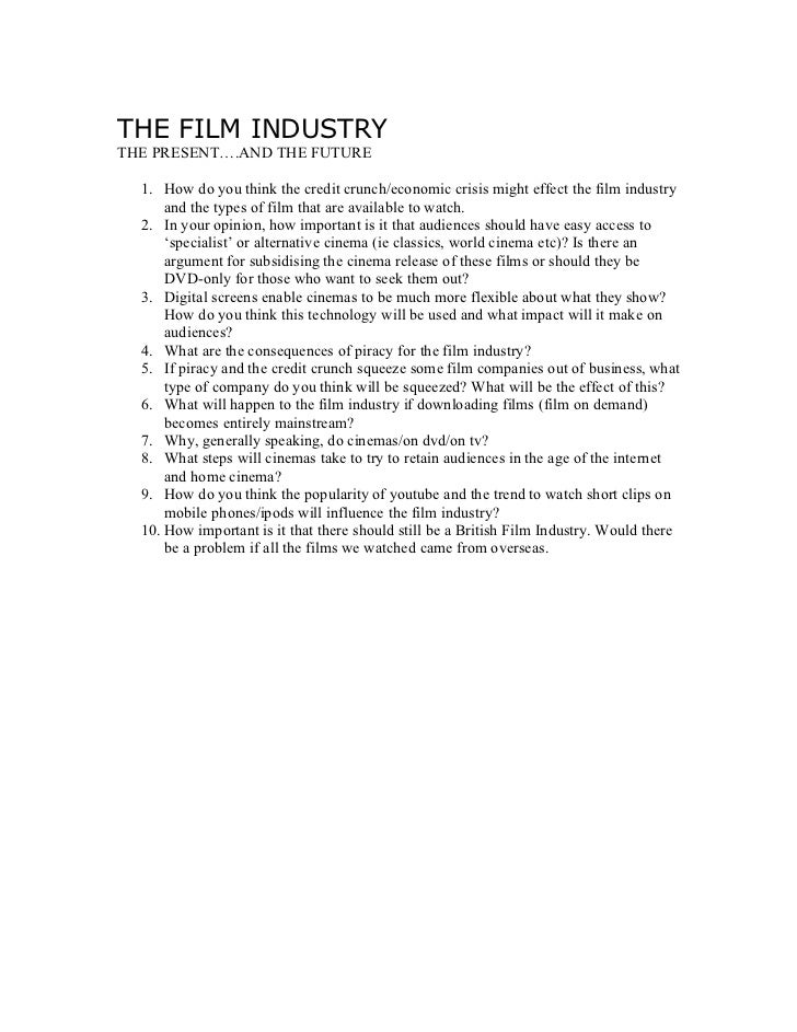 Film future questions