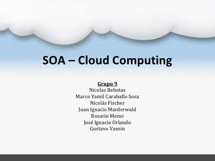 Introducción SOA - Cloud Computing