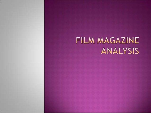 Film magazine analysis