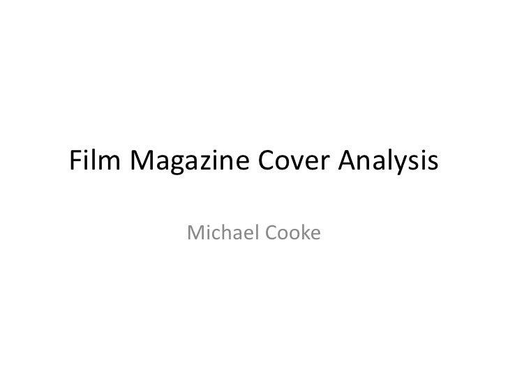 Film Magazine Cover Analysis