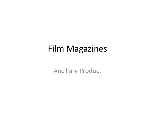 Film Magazines Ancillary Product