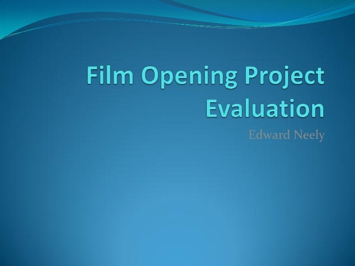 Filmopeningprojectevaluation