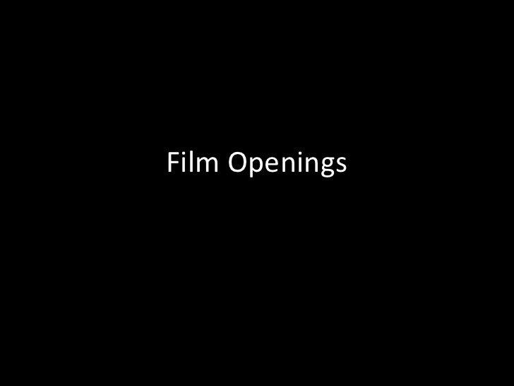 Film Openings<br />