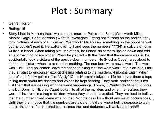 Short story with plot summary