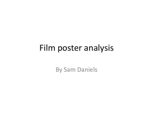 Film poster analysis    By Sam Daniels