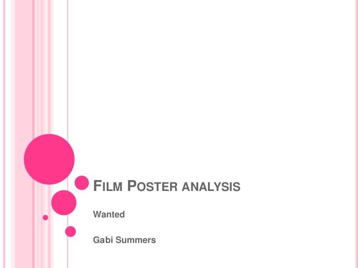 FILM POSTER ANALYSISWantedGabi Summers