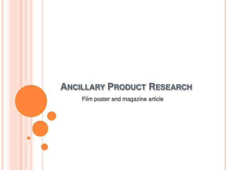 Ancillary Product Research<br />Film poster and magazine article<br />