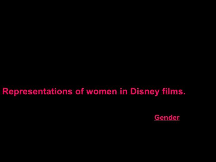 Representations of women in Disney films. Gender