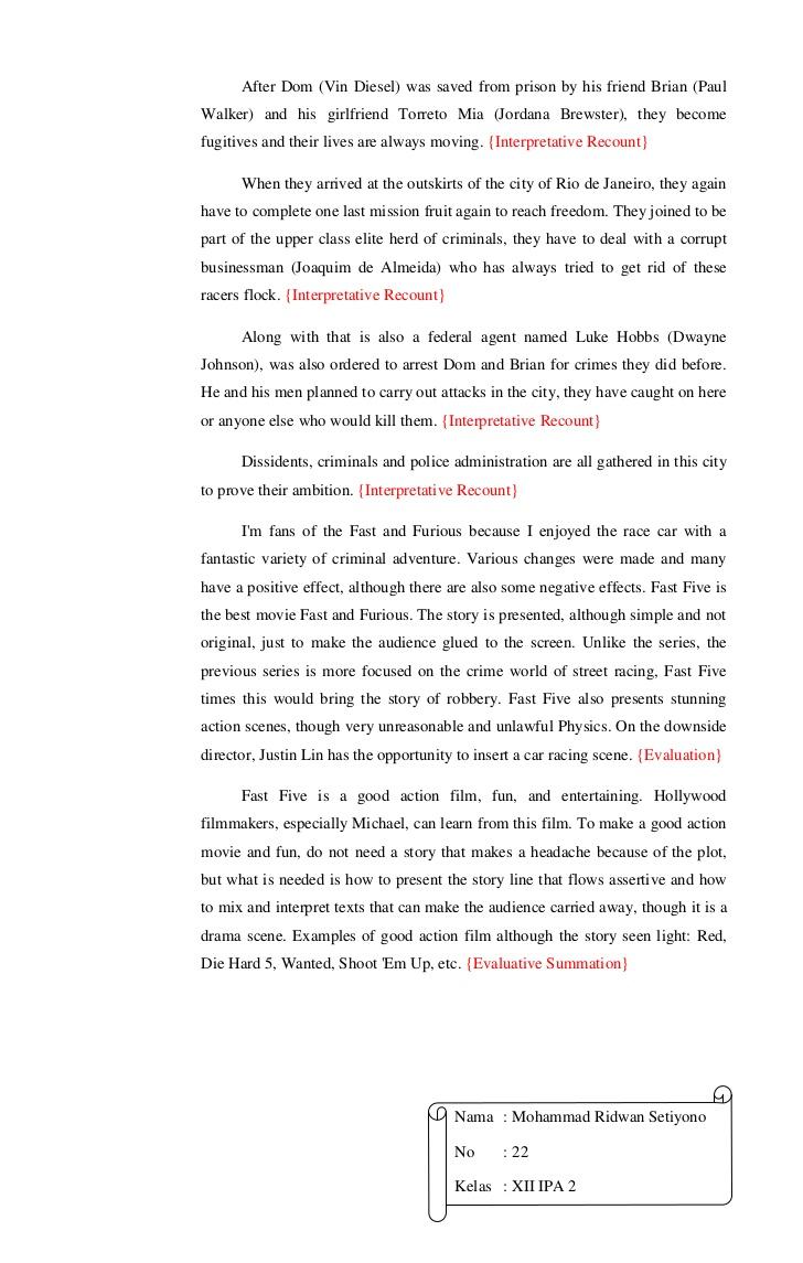 Contoh review text cinderella |contoh resume, contoh revie text