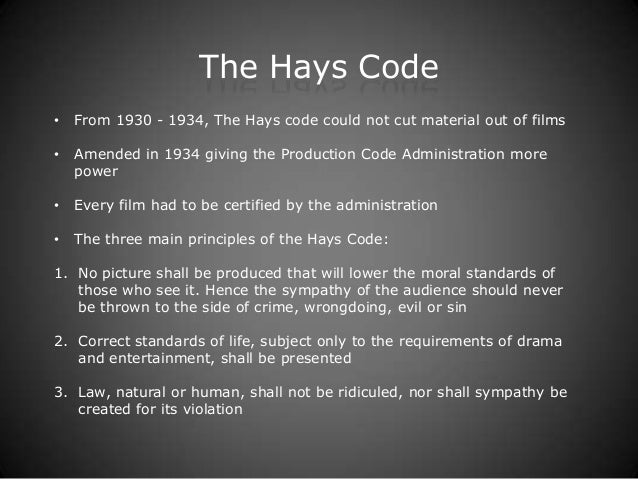 hays production codes impact on vertigo