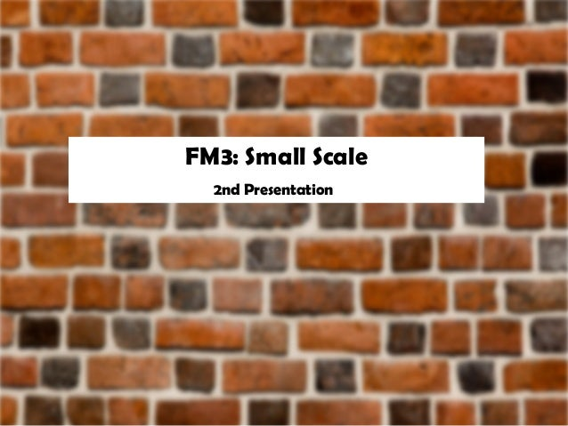 FM3: Small Scale 2nd Presentation