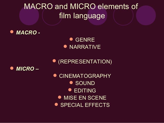 film studies macro essays For my as coursework i will be making an opening sequence to a horror film my blog is also to keep people aware of my progress throughout the year macro features.