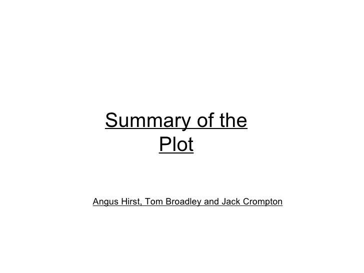 Summary of the Plot Angus Hirst, Tom Broadley and Jack Crompton