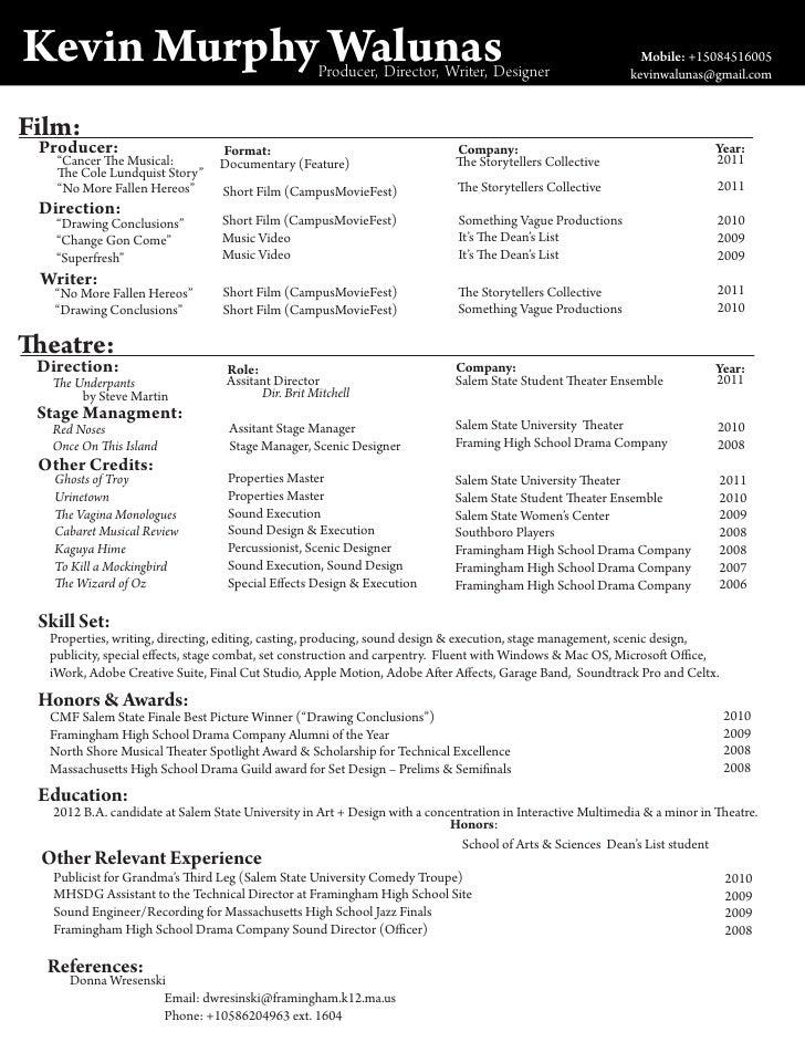 theater management resume copywriterbrandingxfc2com