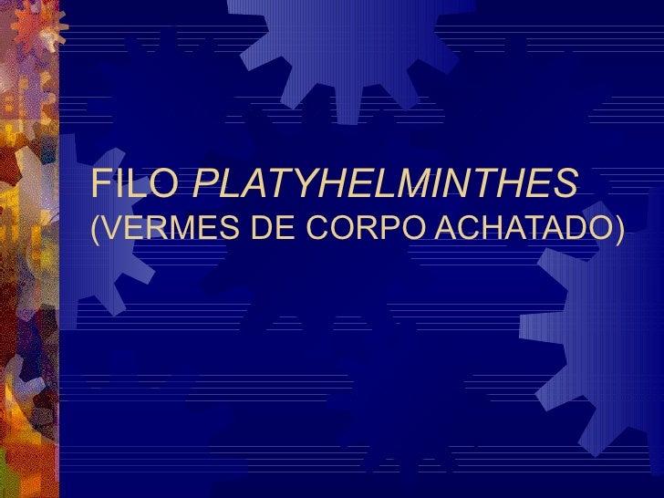 FILO PLATYHELMINTHES(VERMES DE CORPO ACHATADO)