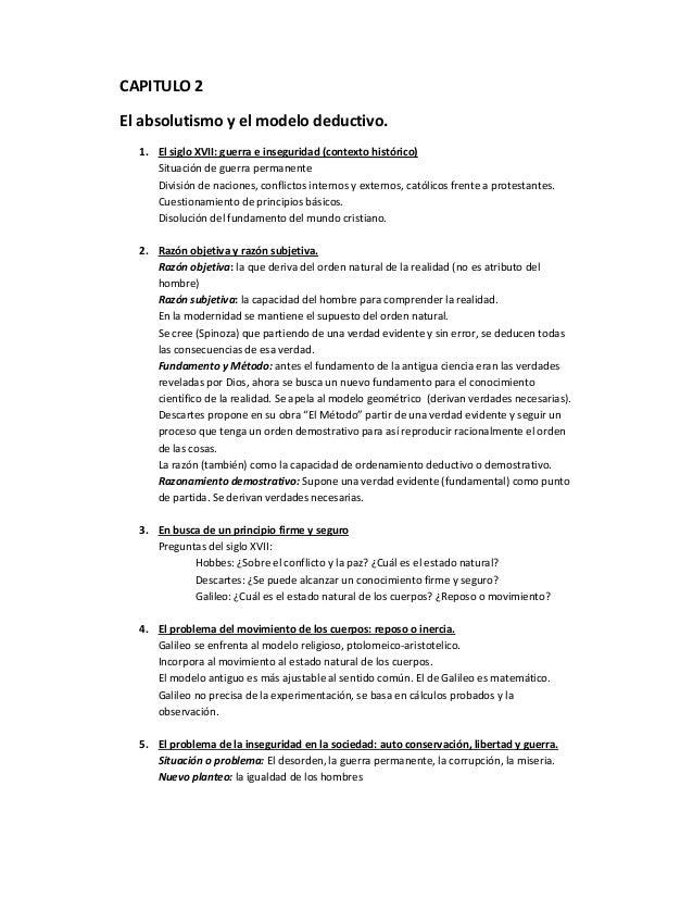 CAPITULO 2El absolutismo y el modelo deductivo.1. El siglo XVII: guerra e inseguridad (contexto histórico)Situación de gue...