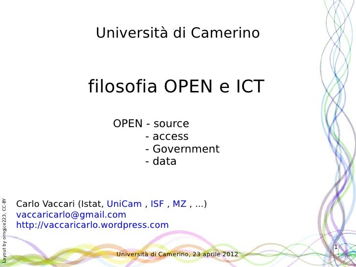 Dall'open-source agli open-data