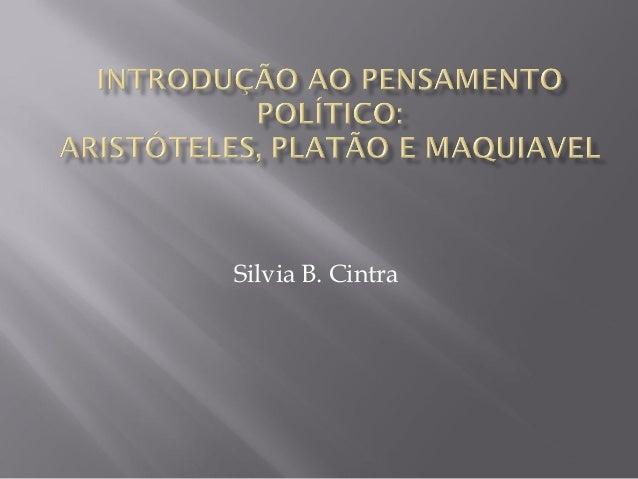 Silvia B. Cintra