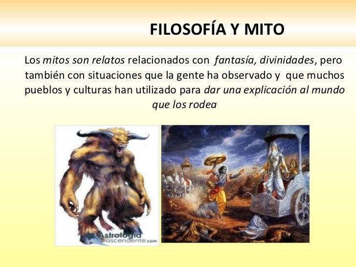 Filosofia y mito