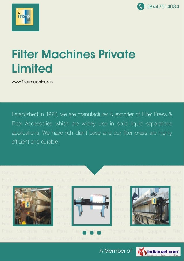 08447514084A Member ofFilter Machines PrivateLimitedwww.filtermachines.inAutomatic Filter Press Industrial Filter Press Me...