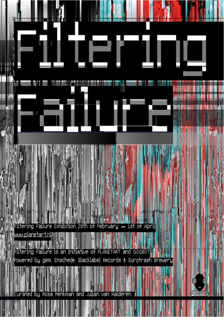 Filtering Failure exhibition catalogue