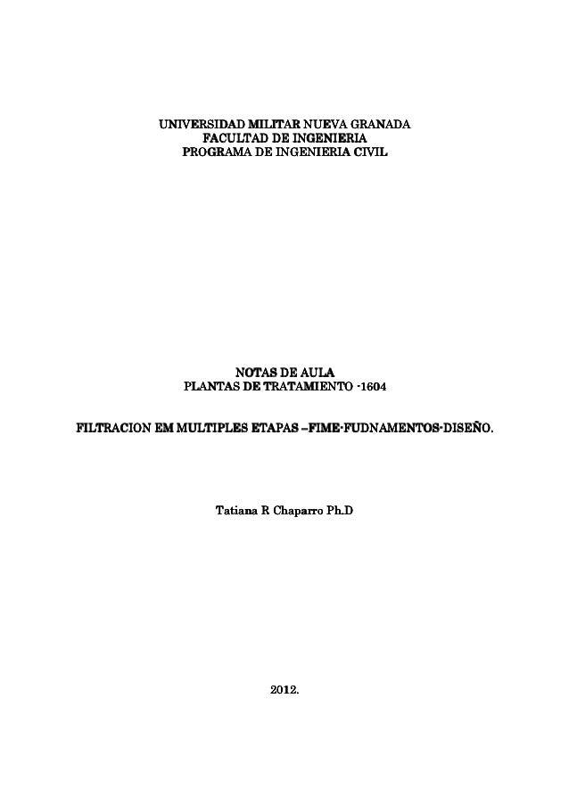 UNIVERSIDAD MILITAR NUEVA GRANADA                FACULTAD DE INGENIERIA              PROGRAMA DE INGENIERIA CIVIL         ...