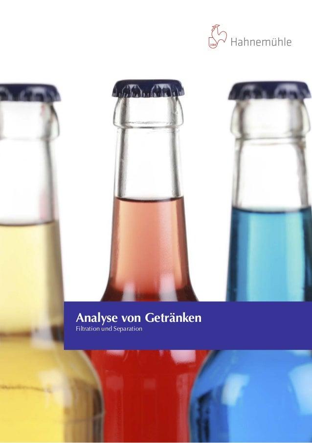 Analyse von Getränken Filtration und Separation