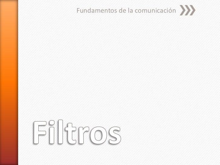 Fundamentos de la comunicación