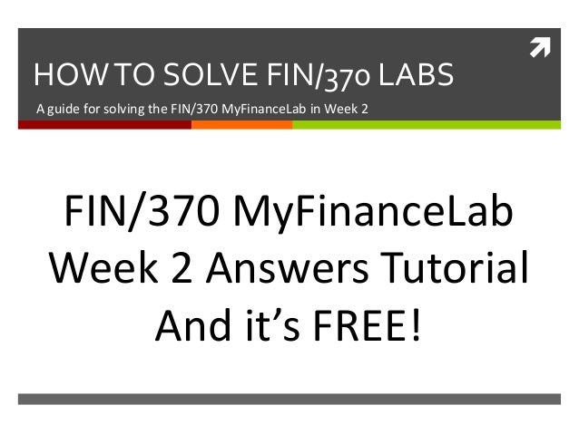FIN 370 Finance Week 2 Lab Your firm is considering a new investment proposal Answer
