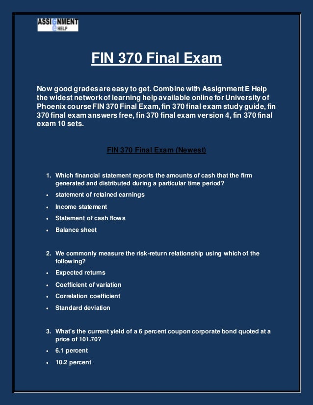 final exam help This section provides information to prepare students for the final exam of the course, including a review of content, practice exams, and exam problems and solutions.