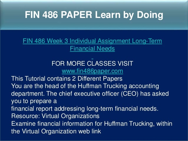 you are the head of the huffman trucking accounting department Huffman trucking: desktop management & erp considerations william dumire sheryl carter tracy hunter jeremy whitson james welty university of.