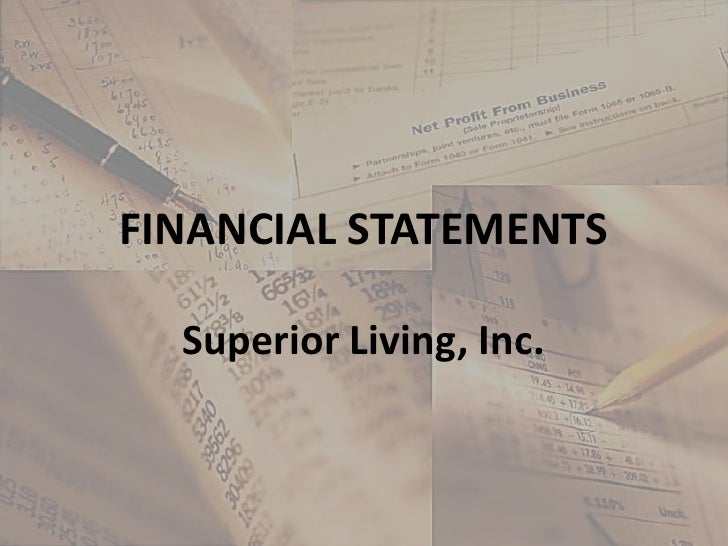 FINANCIAL STATEMENTS<br />Superior Living, Inc.<br />