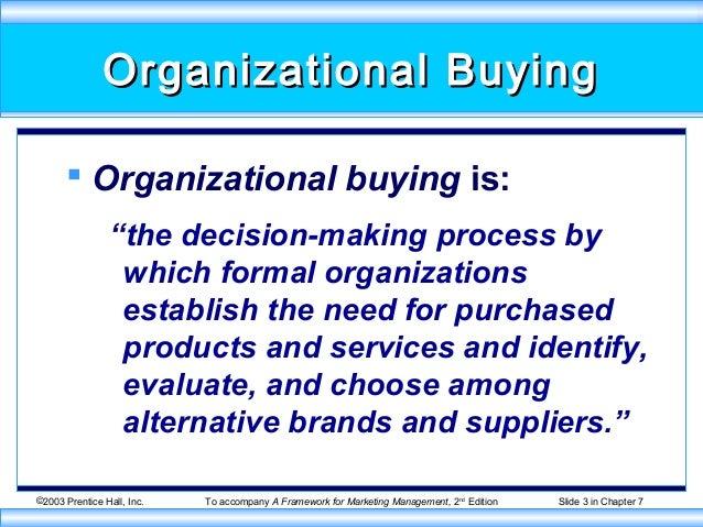 Organizational Buying Behavior Organizational Buying is