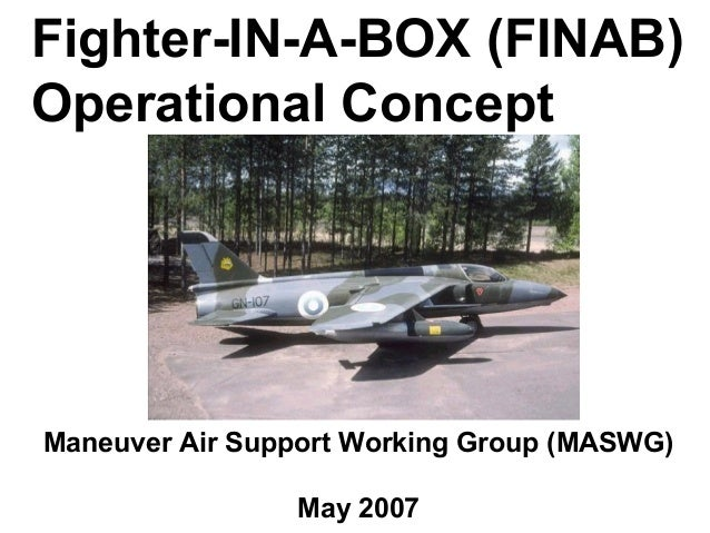 Fighter-IN-A-BOX (FINAB)Operational ConceptManeuver Air Support Working Group (MASWG)                May 2007