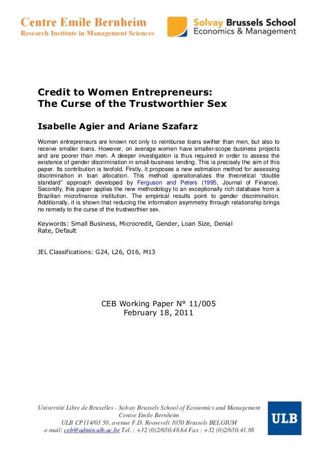 Finace access to women entrepreneurs